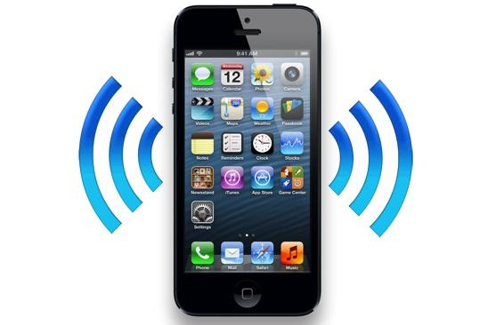 iPhone with alert symbols